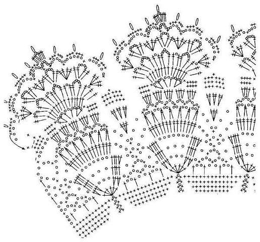 Схема вязания канвы